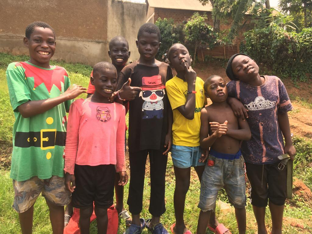 Uganda family reunification and serving young boys